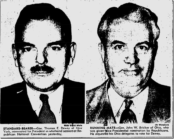 June 29, 1944, Dewey and Bricker