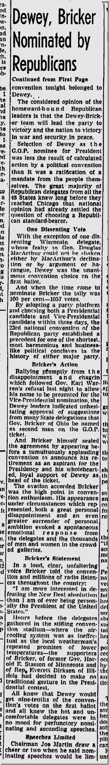 June 29, 1944, Republican Convention