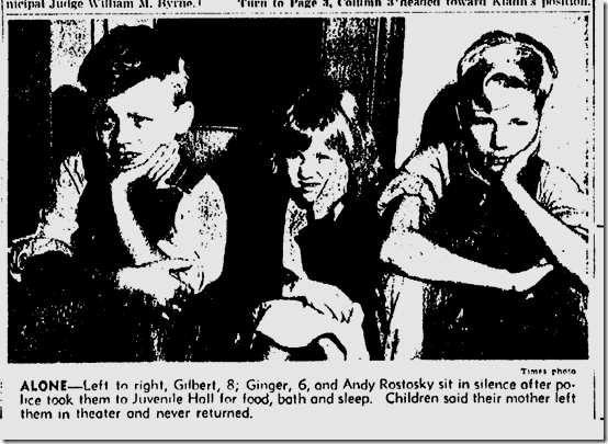 July 11, 1944, Abandoned children