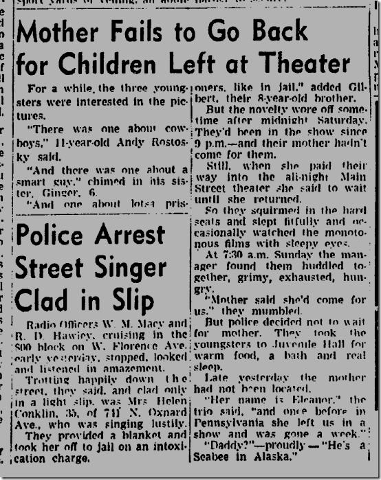 July 11, 1944, Abandoned Children