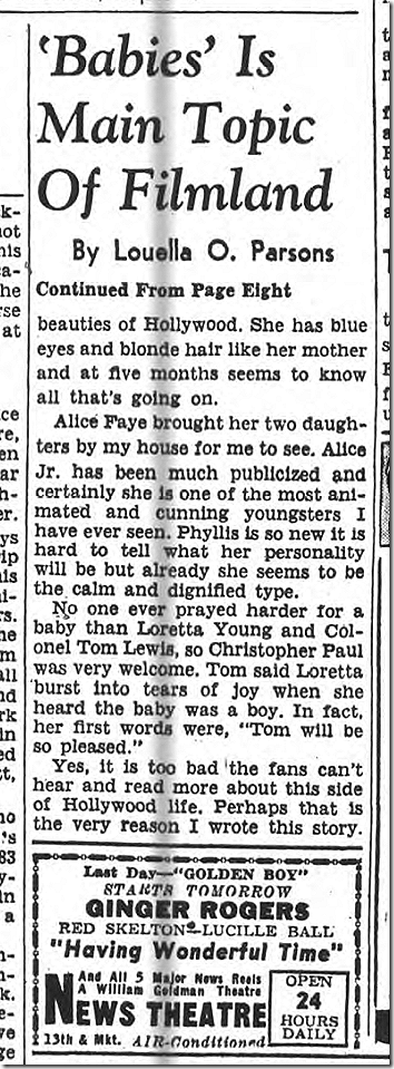 Aug. 27, 1944, Louella Parsons