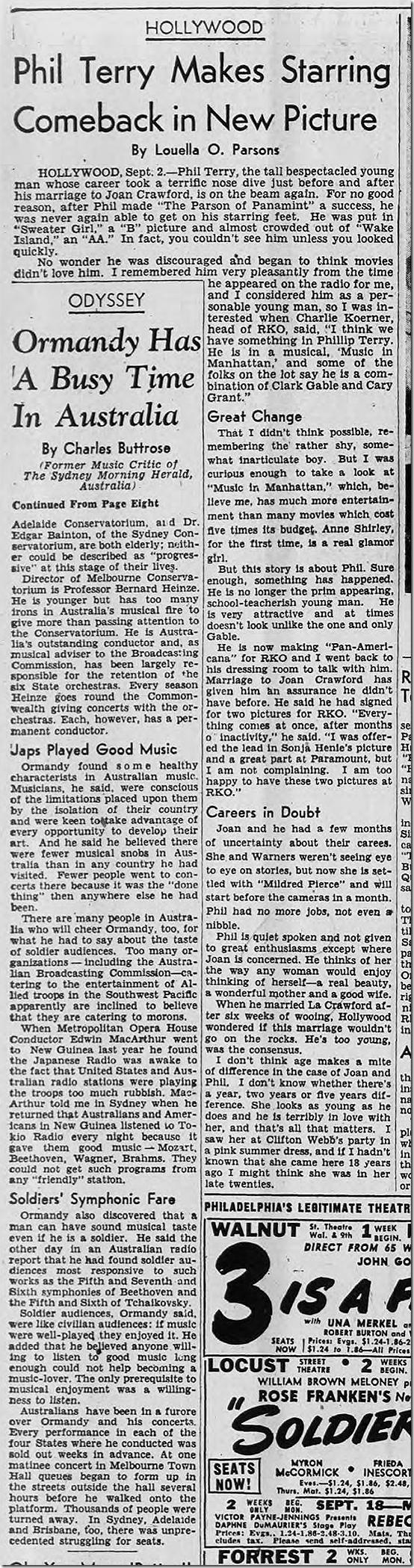 Sept. 3, 1944, Louella Parons