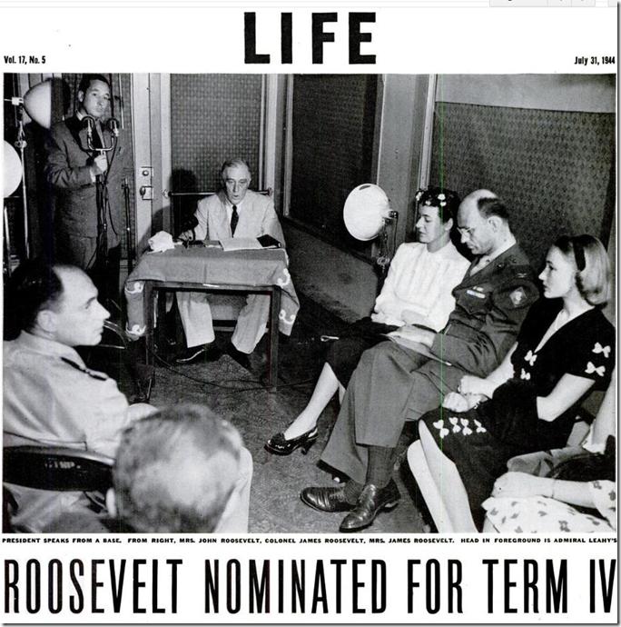 July 31, 1944, Roosevelt