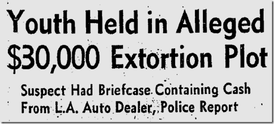 Feb. 2, 1973, Extortion Plot