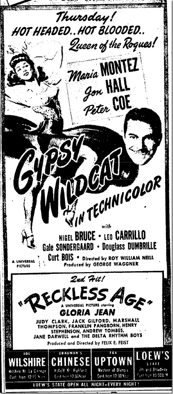 Sept. 5, 1944, Gypsy Wildcat