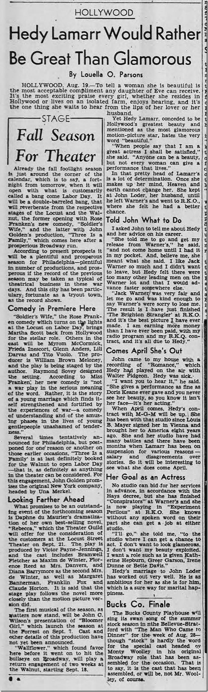 Aug. 20, 1944, Louella Parsons