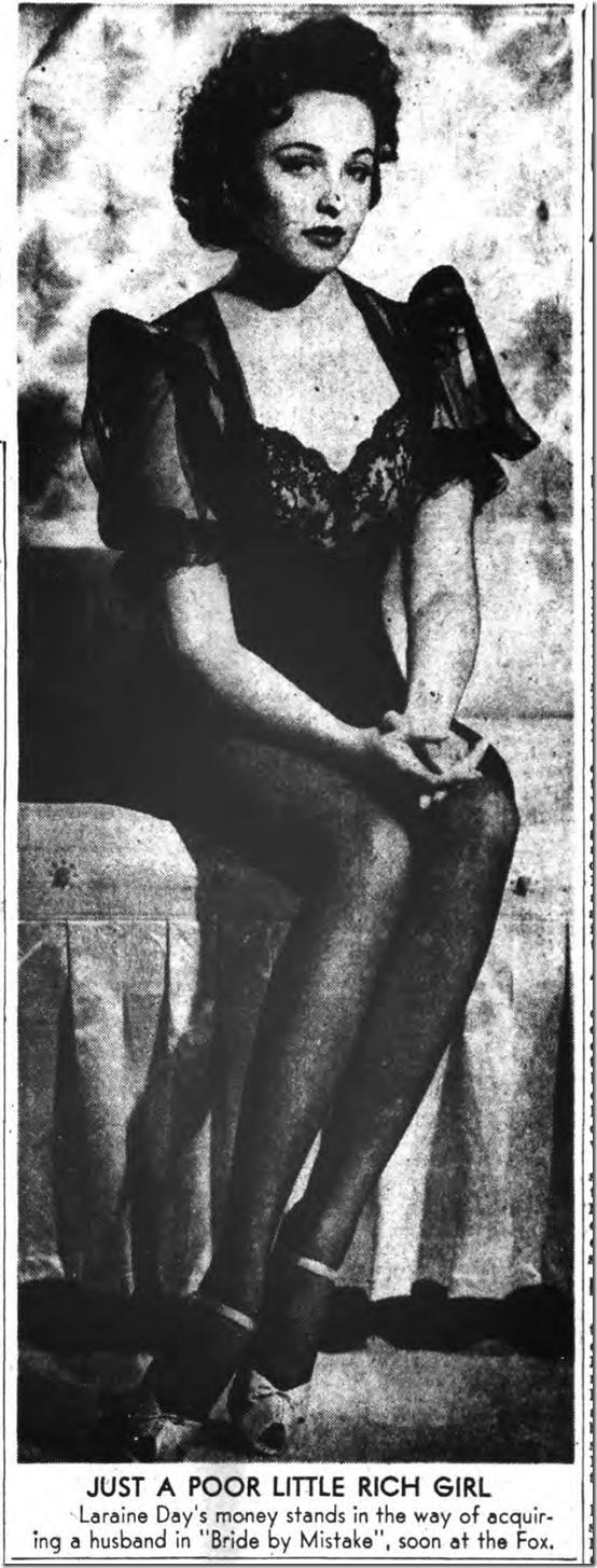 Oct. 1, 1944, Laraine Day
