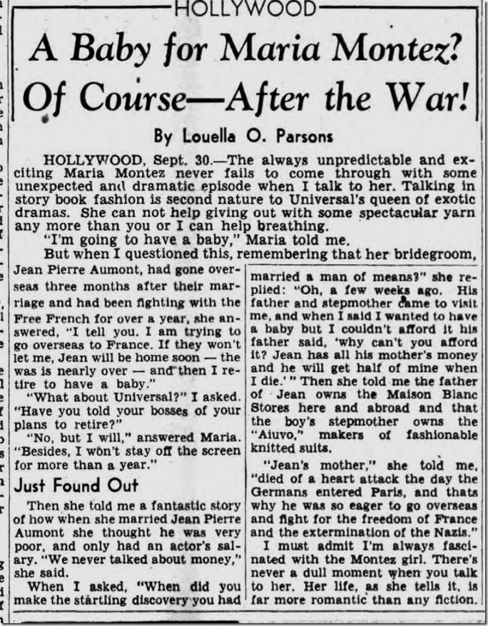 Oct. 1, 1944, Louella Parsons