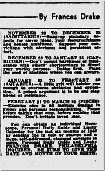 Oct. 3, 1944, Horoscope