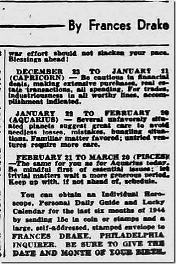 Oct. 7, 1944, Horoscope
