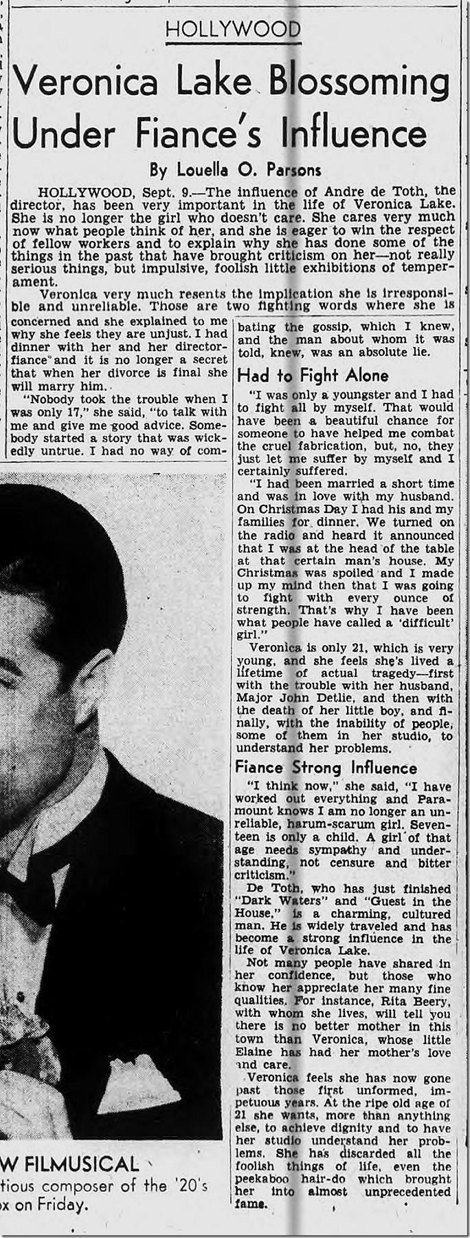 Sept. 10, 1944, Louella Parsons