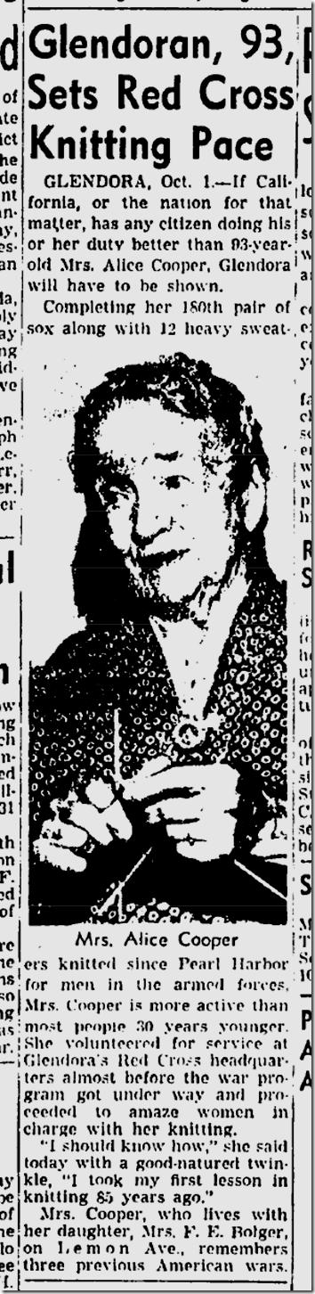 Oct. 2, 1944, Knitter