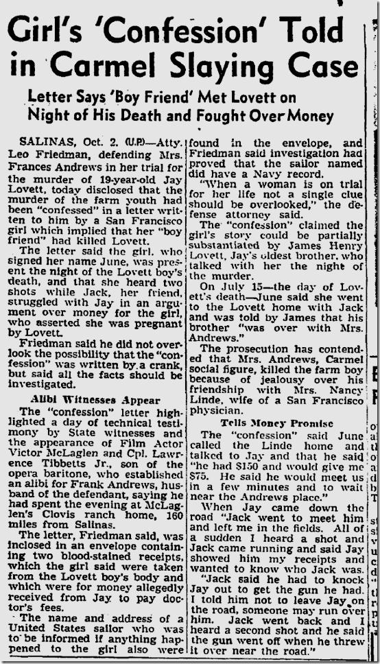 Oct. 3, 1944, Carmel Killing