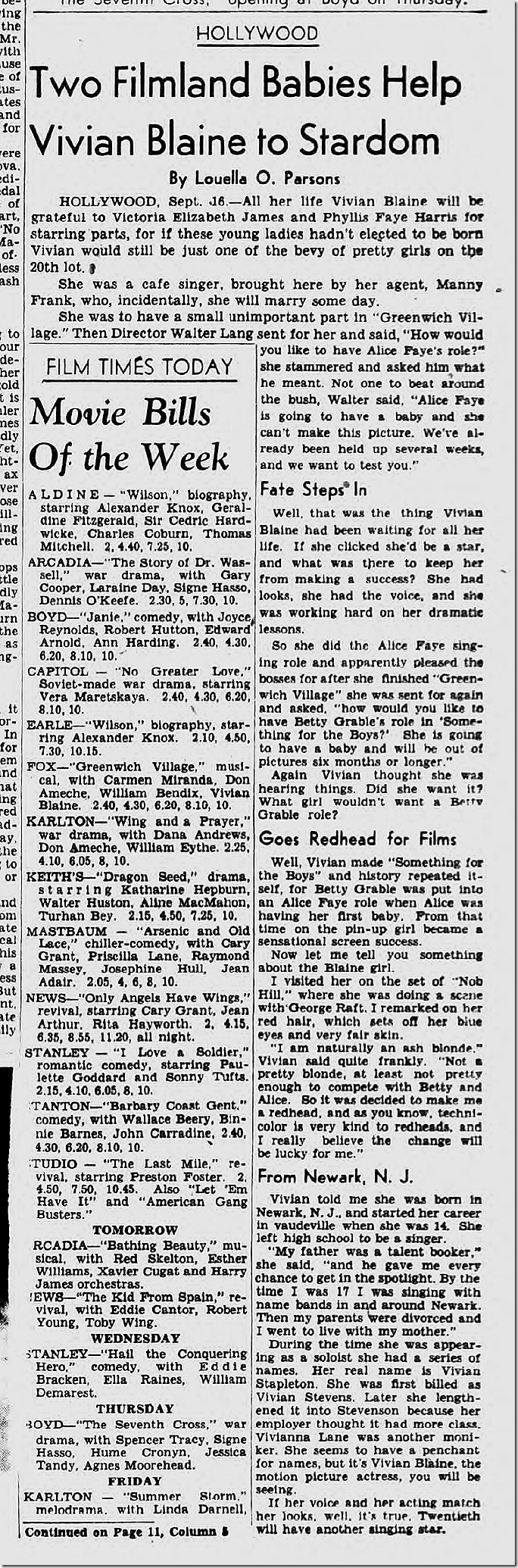 Sept. 17, 1944, Louella Parsons