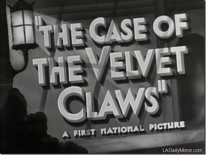 Case of the Velvet Claws
