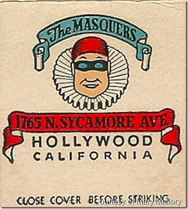 Masquers Matchbook