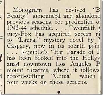 Motion Picture Daily, June 15, 1943