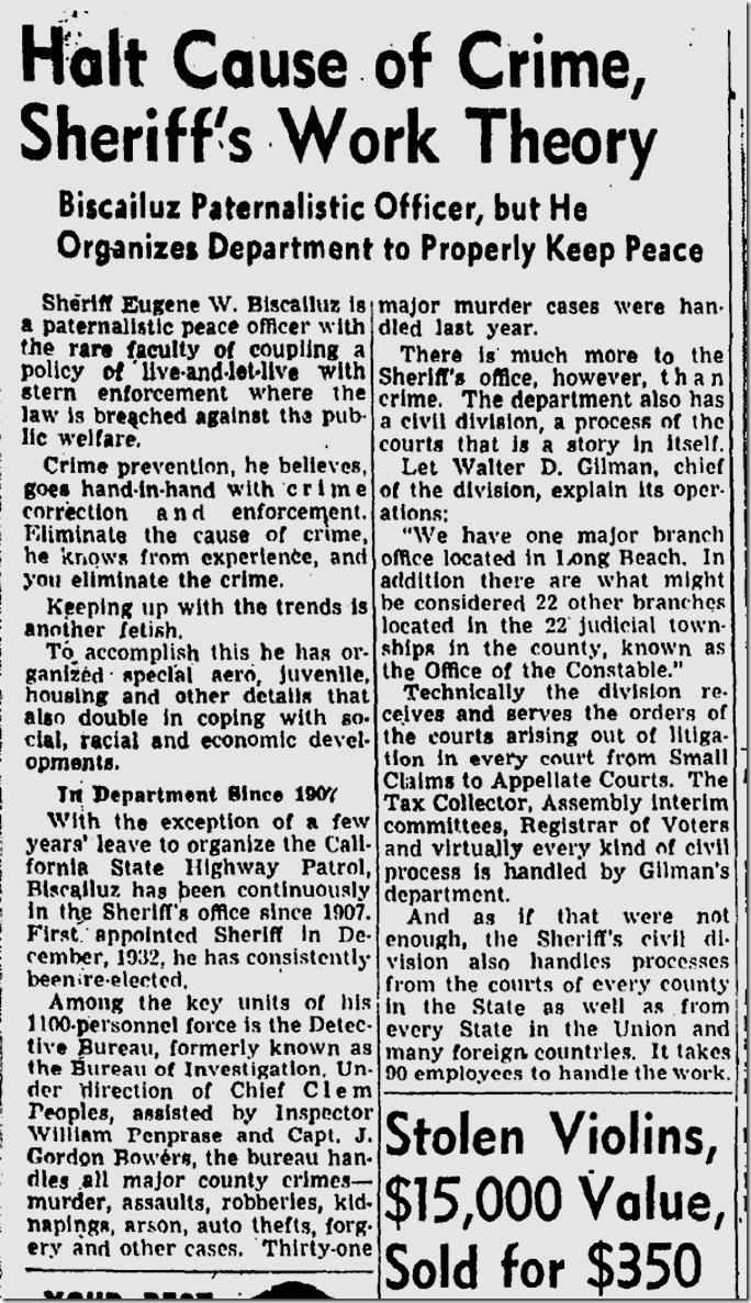 Dec. 31, 1945, Los Angeles County Crime