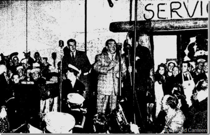 Oct. 3, 1942, Hollywood Canteen