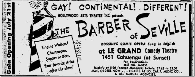 July 12, 1959, Le Grand Comedy Theatre