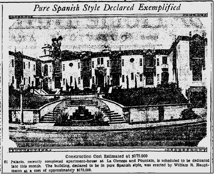 May 10, 1931, El Palacio