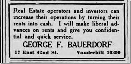 George F. Bauerdorf, March 11, 1923