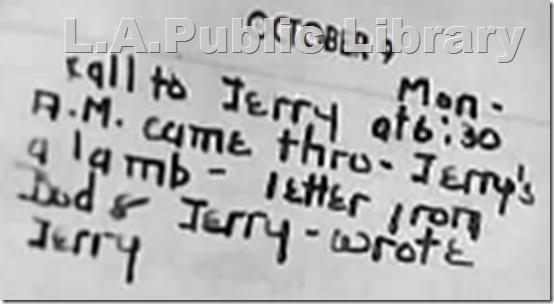 Bauerdorf diary, Oct. 9, 1944