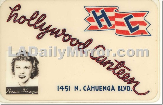 lorraine_krueger_silhouette_hollywood_canteen_ID_card