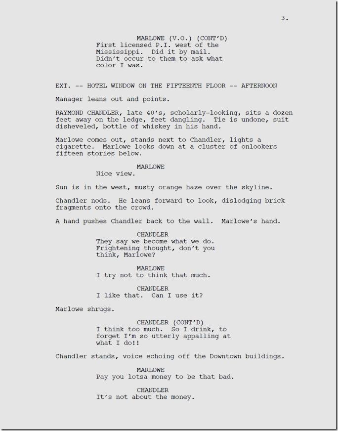 Marlowe, Page 3.