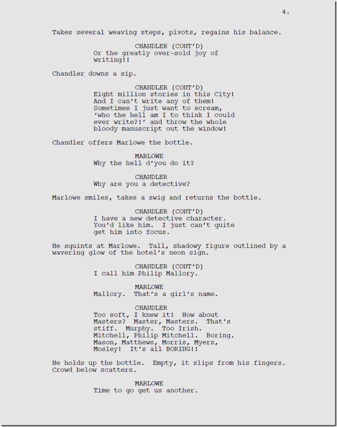 Marlowe, Page 4.