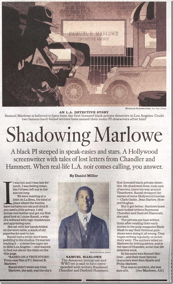 Shadowing Marlowe