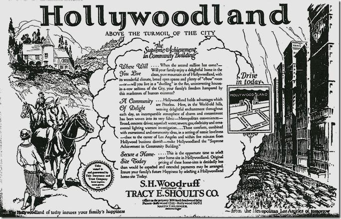 Hollywoodland Ad 1924