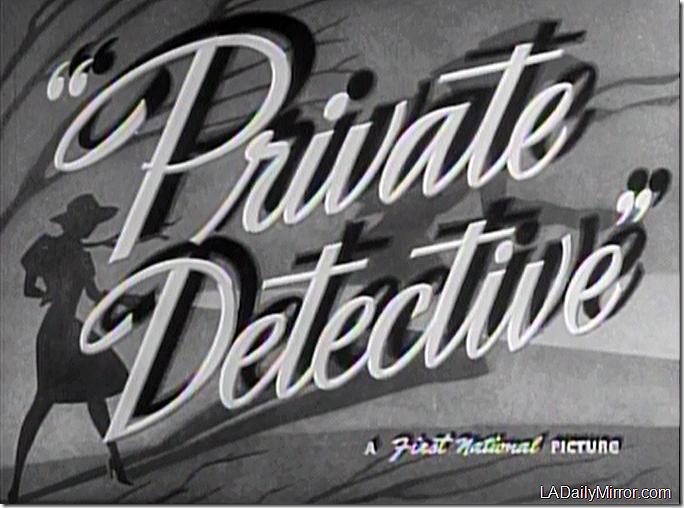 Dec. 20, 2014, Private Detective