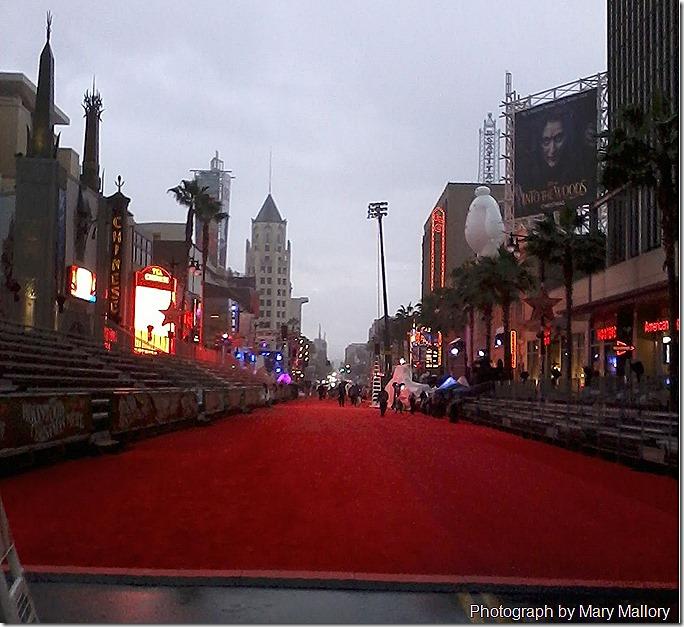 View down Hollywood Blvd. xmas Parade