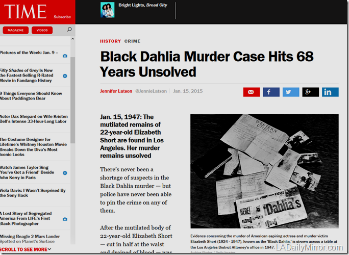 Jan. 16, 2015, Black Dahlia