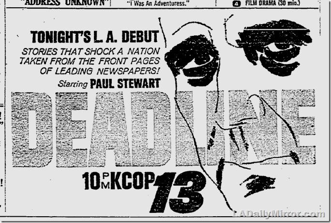 May 17, 1962, Deadline