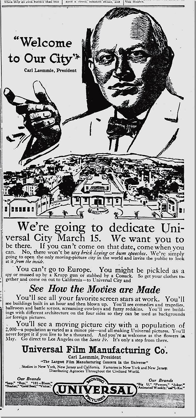 Feb. 10, 1915, Universal City