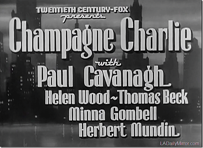 March 28, 2015, Champagne Charlie