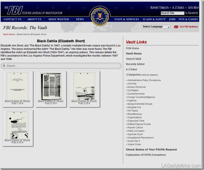 FBI page