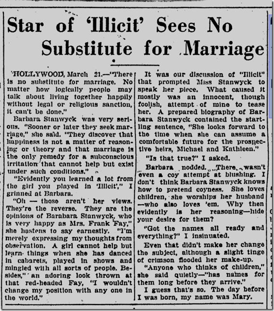 St. Petersburg Times, March 21, 1931.
