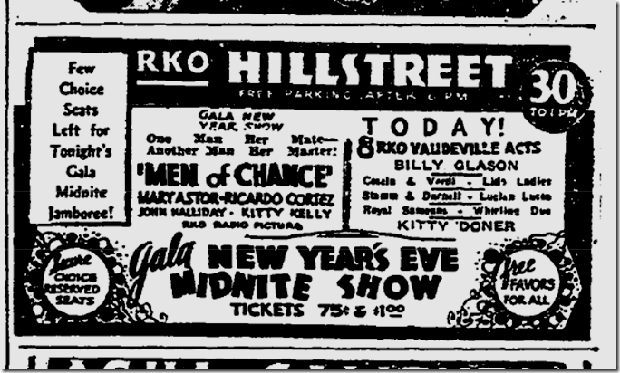 Dec. 31, 1931, Men of Chance