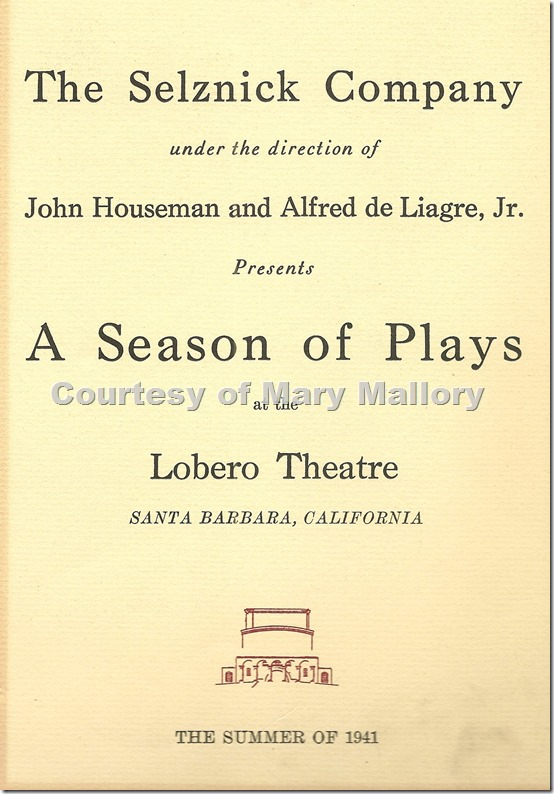Lobero Theatre Program