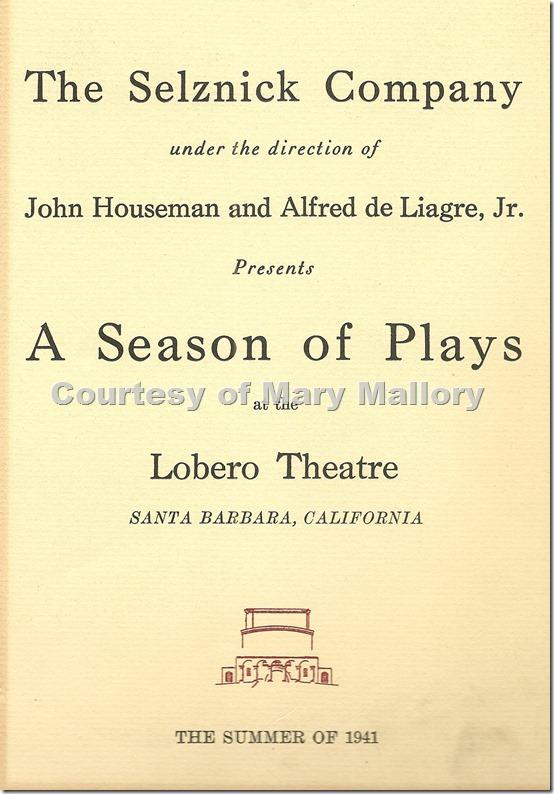 Lobero Theatre Program