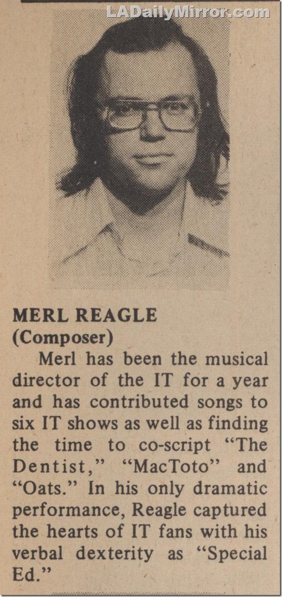 Merl Reagle, 1974