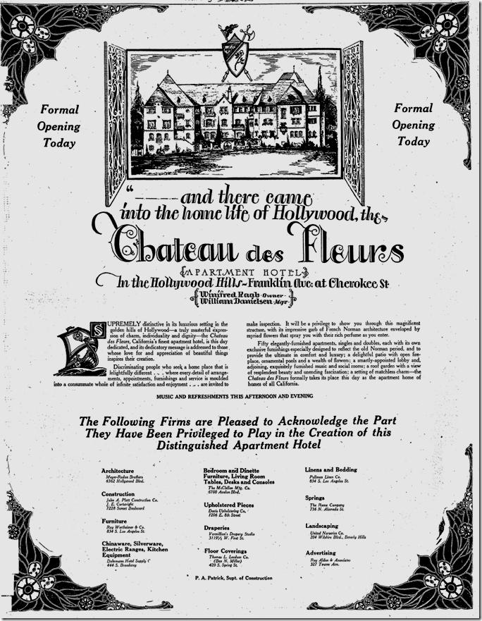 Sept. 24, 1927, Chateau des Fleurs