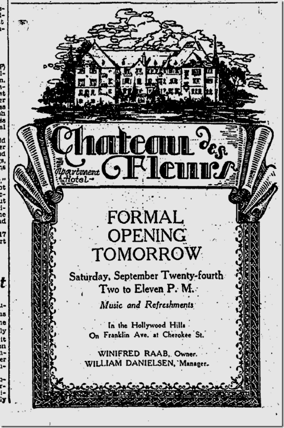 Sept. 23, 1927, Chateau des Fleurs