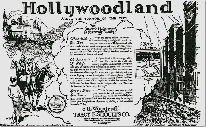 Hollywoodland Ad 1924
