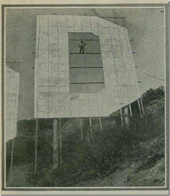 Hollywoodland Sign engineering 1924