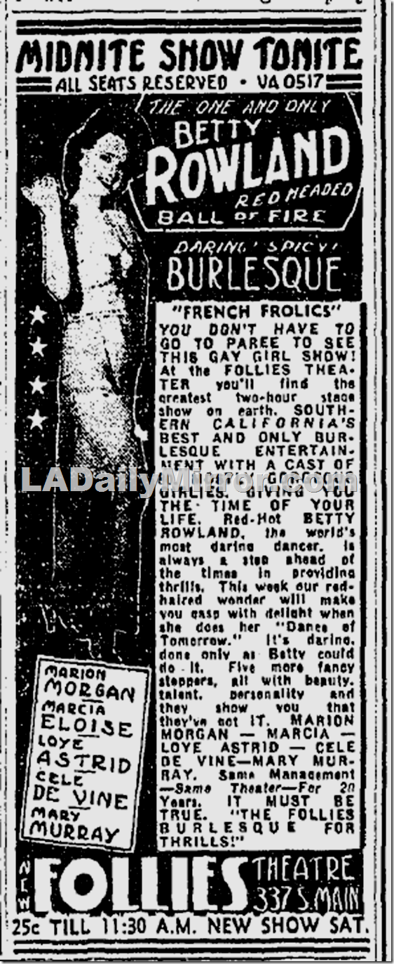 July 29, 1939, Follies