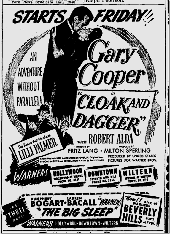 Oct. 8, 1946, Cloak and Dagger